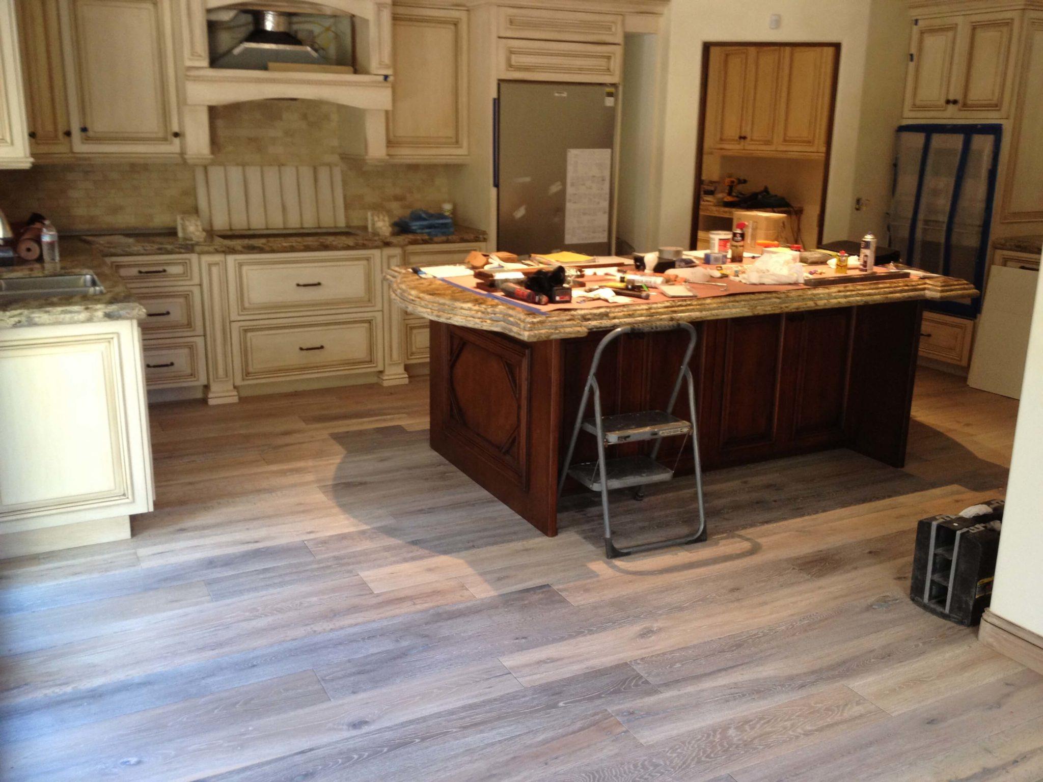 Hardwood Flooring Kitchen installation