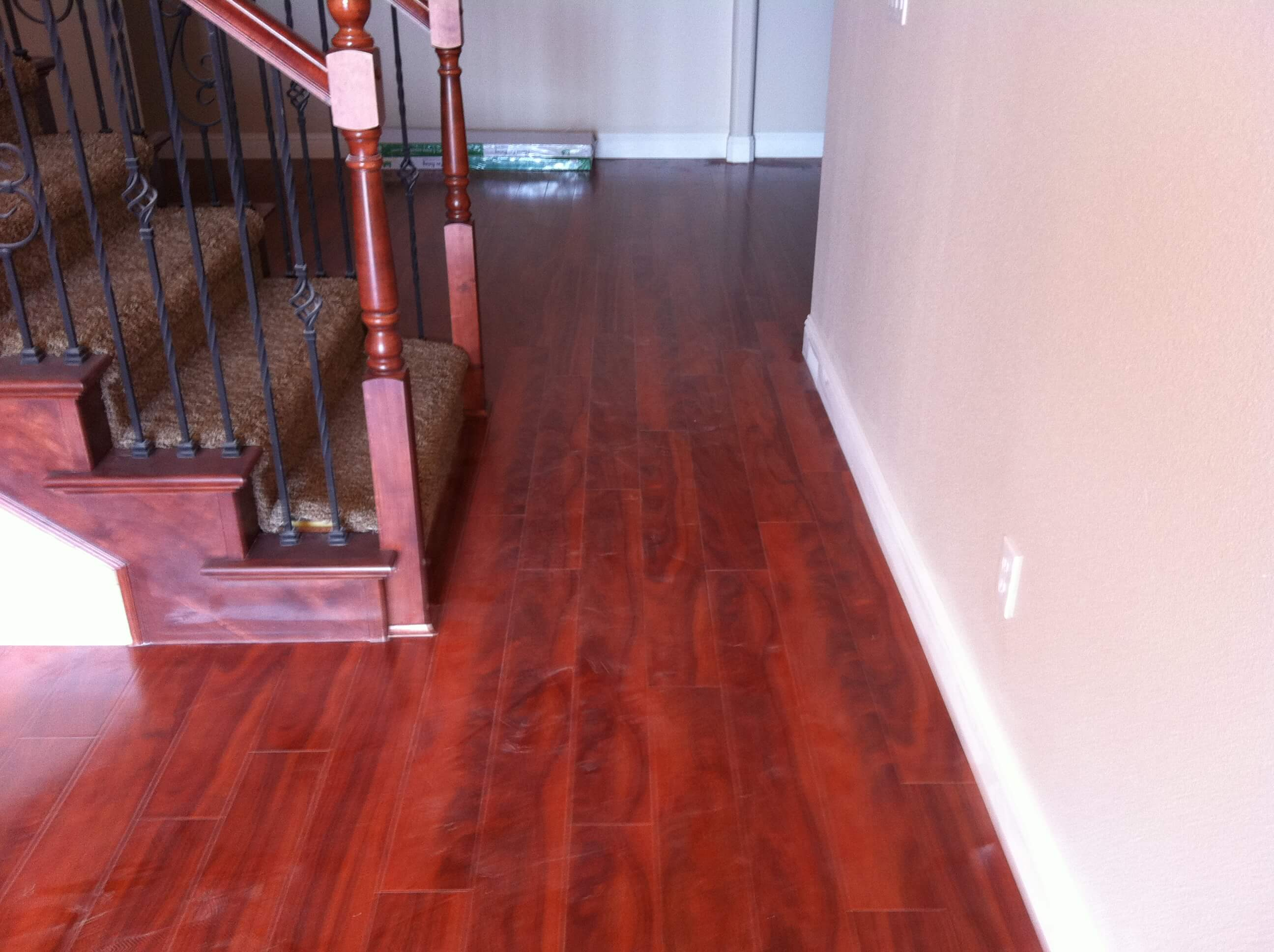 Engineered Hardwood Floor by the stairs