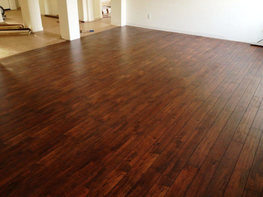 Laminate floors room