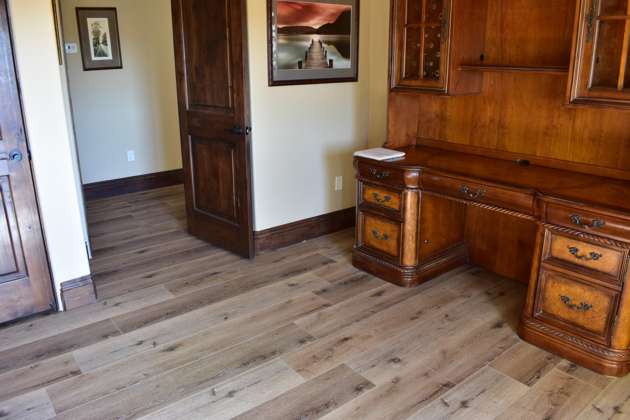 Waterproof Laminate Floors Installed By the Sofa