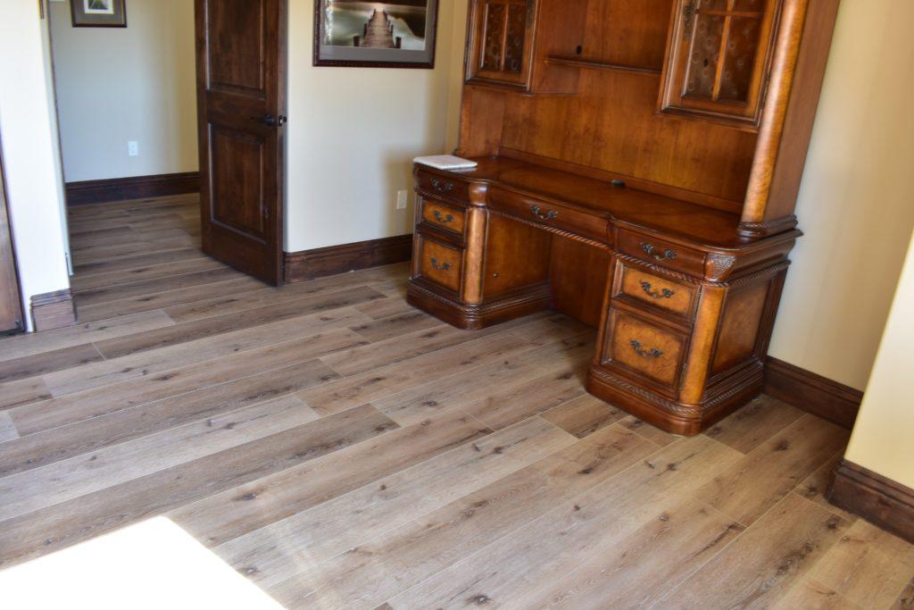 Waterproof Floors Installed Sofa Door Hallway 2