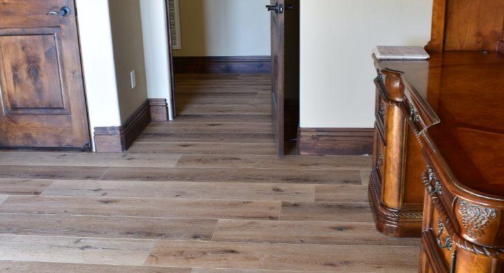 Waterproof Floors Installed Sofa Door Hallway 3